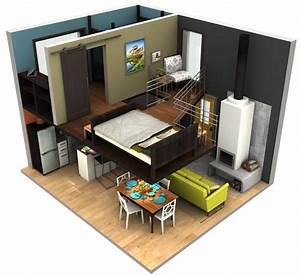 Tiny House Pläne : malissa tack s tiny house big loft design in 3d tiny house pins tiny homes baumhaus innen ~ Eleganceandgraceweddings.com Haus und Dekorationen