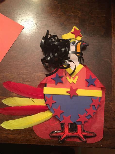 Turkey In Disguise Wonder Woman By Rebecca Turkey
