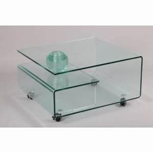 Table Basse Sur Roulette : table basse en verre sur roulette 80x70 sandwich ~ Melissatoandfro.com Idées de Décoration