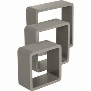 Cube De Rangement Leroy Merlin : etag re 3 cubes brun taupe l 28 x p 28 l 24 x p 24 l ~ Dailycaller-alerts.com Idées de Décoration