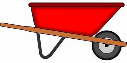 Wheelbarrow Gardening Clipart Mulch Pixabay Gardner Tools