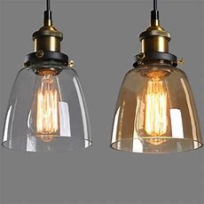 Vintage Retro Glass Shade Ceiling Lights Chandelier