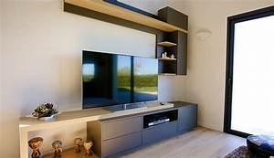 Meuble De Rangement Salon : meuble de salon macoretz agencement ~ Teatrodelosmanantiales.com Idées de Décoration