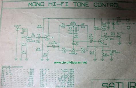 Tone Control Circuit Schematic
