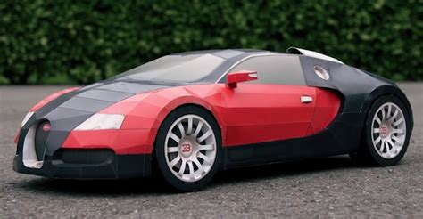 How To Make A Paper Bugatti Veyron Using 44 Pages