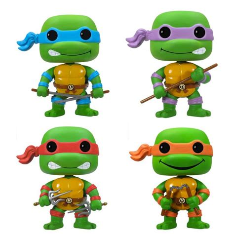 tabliers de cuisine figurine pop tortues donatello raphael leonardo