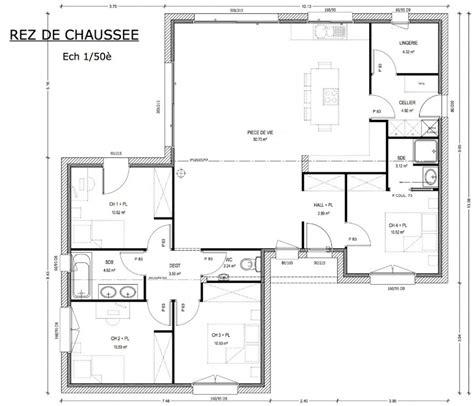 plan maison 2 chambres plan maison neuve 4 chambres