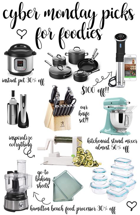 cyber monday picks foodies mixer baking instant pot sheets stand