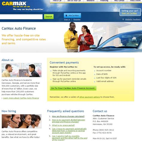 carmax auto finance pay bill quick bill pay