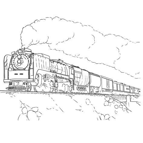 Kleurplaat E by Leuk Voor Stoomlocomotief Met Wagons