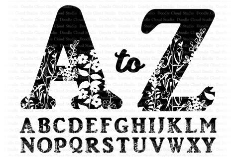 floral alphabet svg cut files floral alphabet clipart  doodle cloud studio thehungryjpegcom