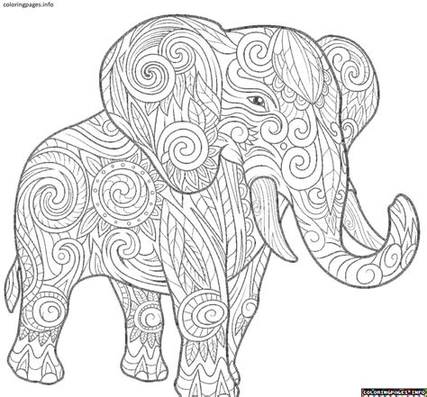 awesome elephant mandala coloring pages design printable