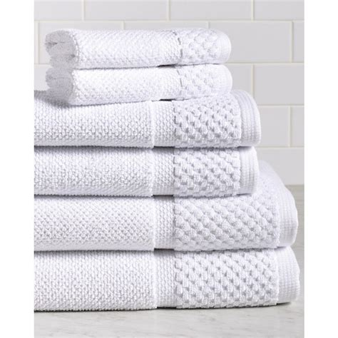 Espalma Diplomat 6piece 100% Cotton Bath Towel Set In