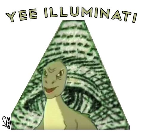 Yee Memes - quot yee illuminati meme w subliminal eye of horus quot by pepeking redbubble