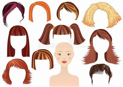 Woman Face Hairstyle Haircuts Cartoon Haircut Female