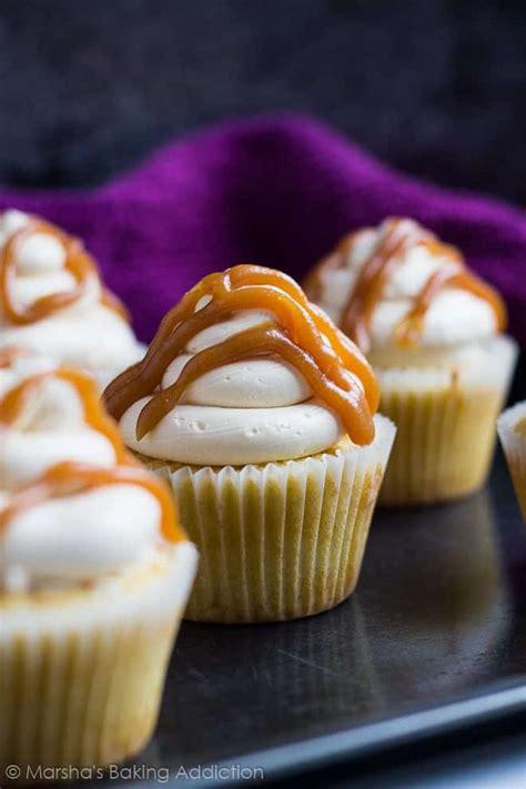 salted caramel cupcakes   baker