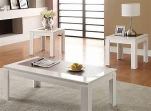 80724 kilee white 3 piece coffee table set miami furniture With 3 piece coffee table set white