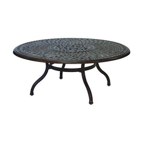 round patio coffee table shop darlee series 60 aluminum round patio coffee table at