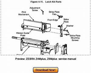 Zebra Z4mplus Z6mplus Thermal Label Printer Service Maintenance Man
