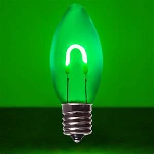 C9 Green Acrylic Flexfilament Tm Led Vintage Christmas Light Bulb  Transparent