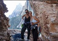Climbing Female Warrior