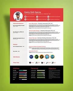 Free Simple Resume Design Template For Ui  U0026 Ux Designers