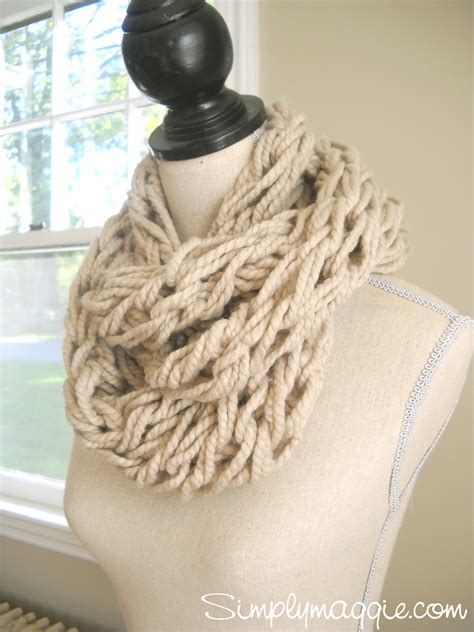 how to knit a scarf arm knitting tutorial how to simplymaggie com