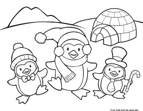 Printable Penguin Coloring Pages For Kidsfree Printable