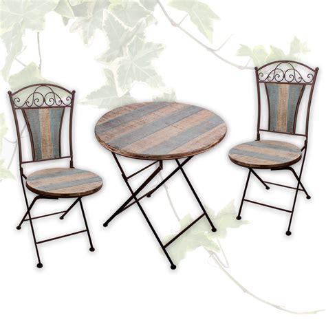 Tisch + 2 Stühle Bistrostuhl Balkonstuhl Garten