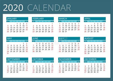 calendar week starts sunday simple vector design stock