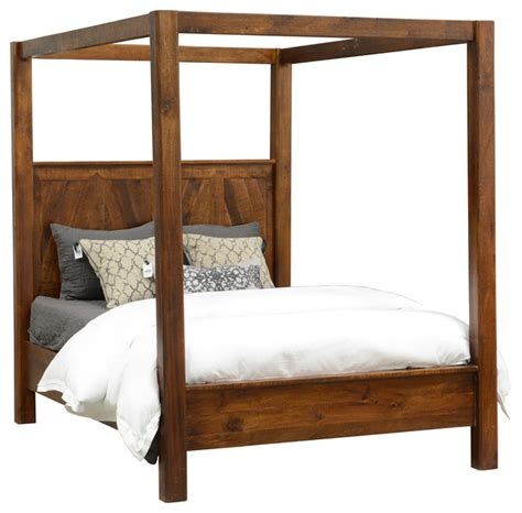 rustic wood canopy bed queen size rustic canopy beds