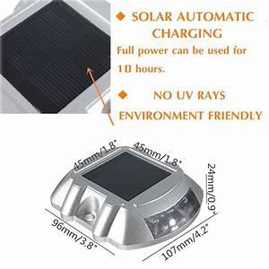 solmore solar led dock path deck road stud maker lights With outdoor solar lights for docks