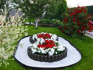 Weiße Steine Garten : 1001 ideen zum thema blumenbeet mit steinen dekorieren ~ Lizthompson.info Haus und Dekorationen