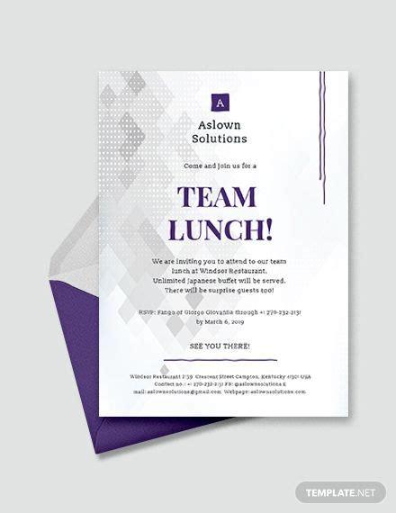 team lunch invitation lunch invitation dinner
