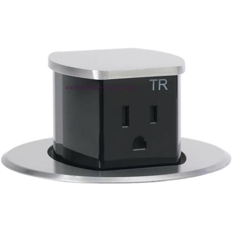 countertop electrical receptacles hubbell rct200alu waterproof dual sided pop up counter