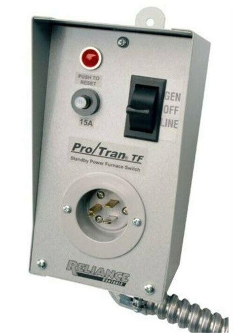 reliance tf151w generator to furnace transfer switch ebay