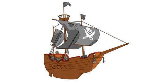 Ship Cartoon by Cartoon Pirate Ship Www Imgkid The Image Kid Has It