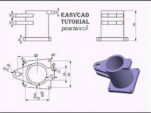 Creo Parametric Basic Part Modeling Practice 5 Tutorial