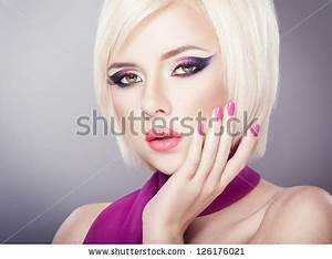 Surprised Woman Open Mouth Pin Girl Stock
