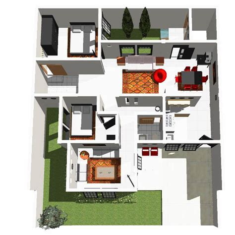 sketsa rumah minimalis modern terbaru
