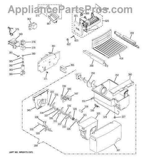 parts  ge gsfigzbww ice maker dispenser parts appliancepartsproscom