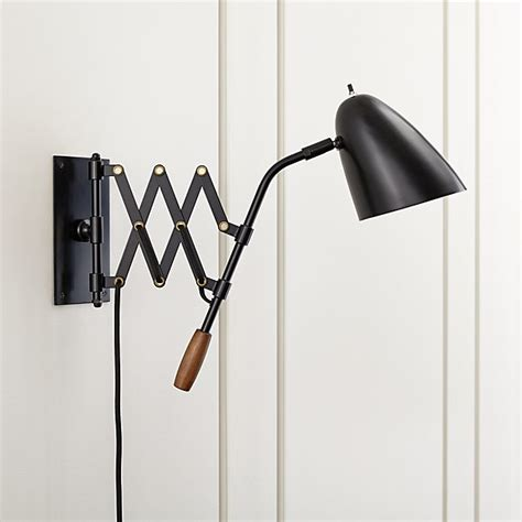 black wall sconces lighting black sconce reviews crate and barrel