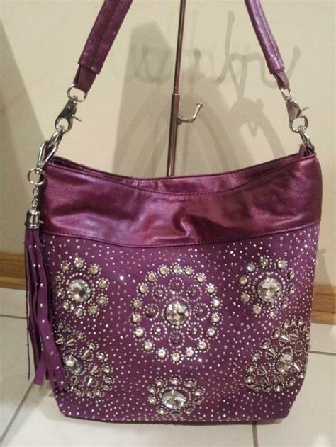 purple bling purse handbags pinterest purple bling