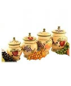 4 kitchen canister sets tuscan collection deluxe painted 4 kitchen canister set delivery is ebay
