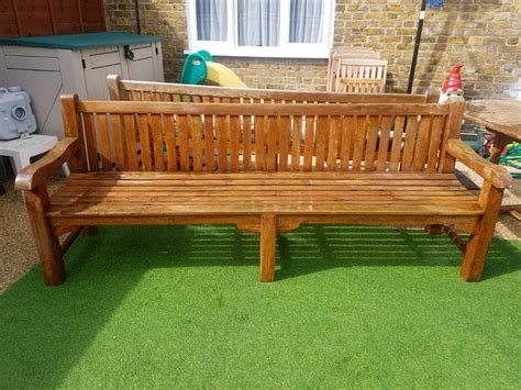 solid wooden bench cm  west drayton london gumtree