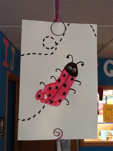 ladybug footprint craft infanttoddler room baby feet