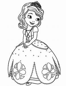 Disney Sofia The First Princess Coloring Page H U0026 M
