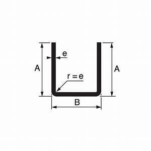 Profilé Inox En U : fer u 25 x 25 x 25 x 2 mm en acier brut ~ Dailycaller-alerts.com Idées de Décoration