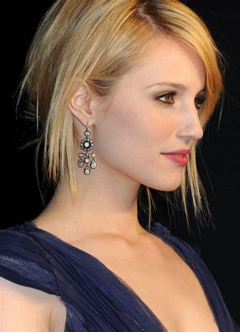 sleek short haircut  women dianna agrons hairstyle hairstyles weekly