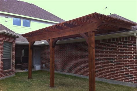 frisco small backyard arbor creates new shade area